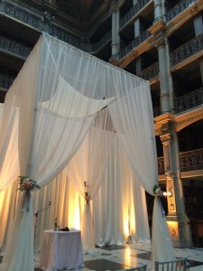 decor tall chuppah