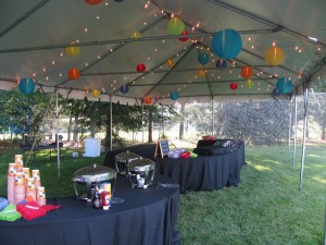 specialty cafe and lanterns in tent copy